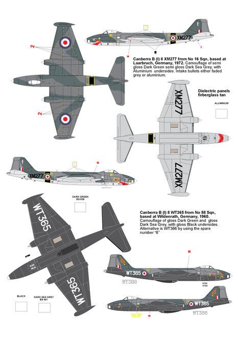 High Planes EE Canberra BI Mk 8 RAF Kit 1:144