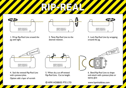 Rip-Real HRR001 Ejector Seat Handle Starter Set Instructions