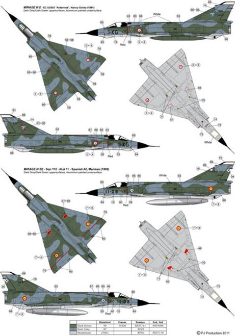 PJ Productions Dassault Mirage IIIE Kit 1:72
