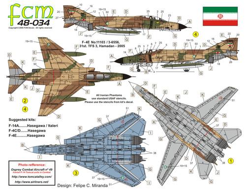 FCM Iranian Tomcats & Phantoms Decals 1:48