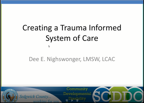 Creating a Trauma Informed IDD System of Care by Dee Nighswonger, LMSW, LCAC