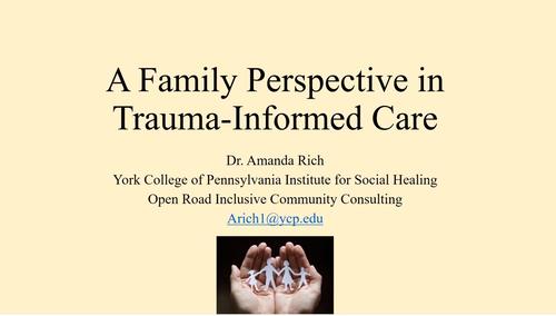 Dr. Amanda Rich, York College of Pennsylvania Institute for Social Healing