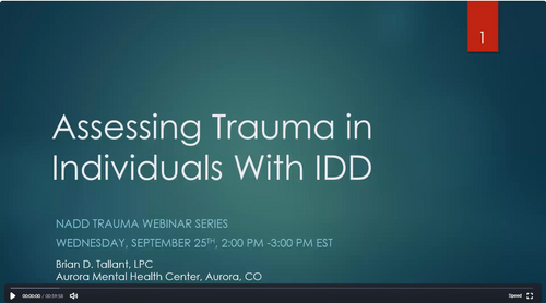 Trauma Assessment in Youth and Adults with IDD by Brian Tallant, LPC