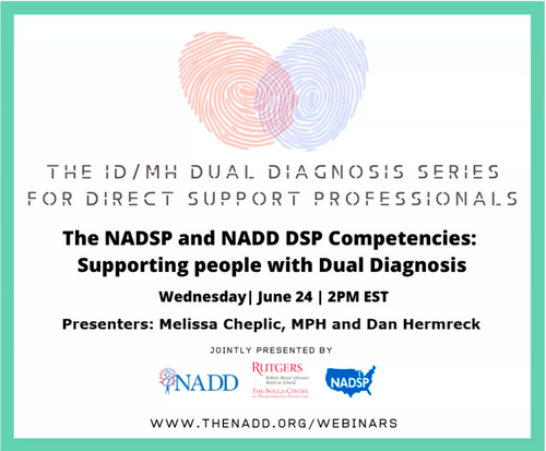 The NADSP and NADD DSP Competencies - Supporting people with Dual Diagnosis