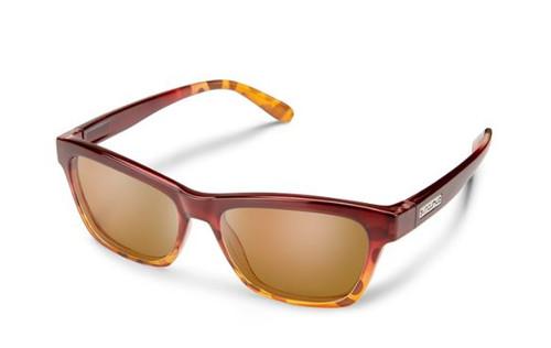 Quest Sunglasses- Raspberry Tortois/Brown Polarized