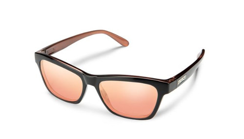 Quest Sunglasses-Rose Back/Pink Gold Polarized