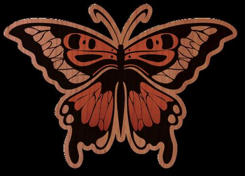 Monarch Butterfly Cherry Wood Sticker