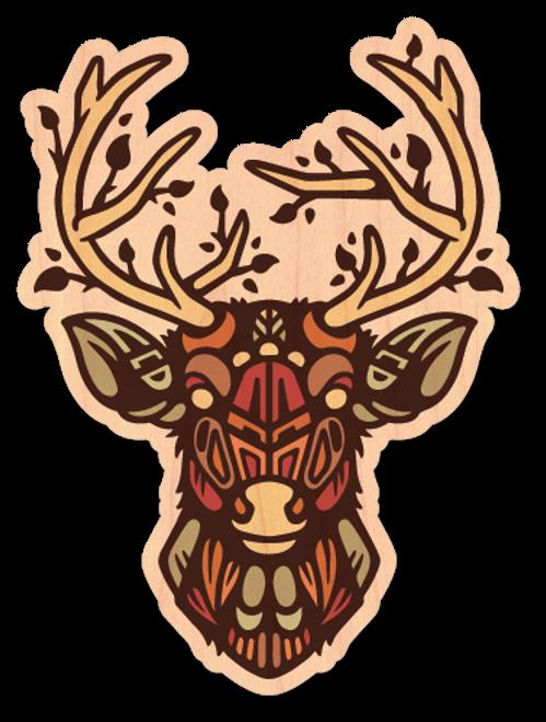 Nowhere Deer Maple Wood Sticker