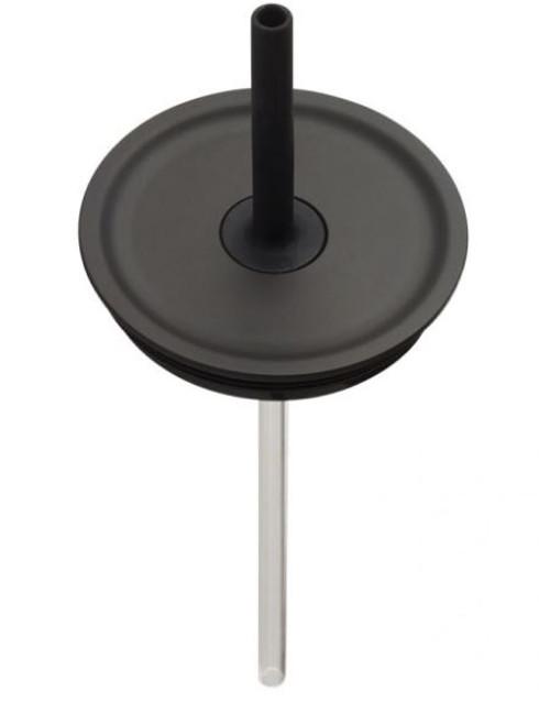 Medium Press-In Straw Lid - Black