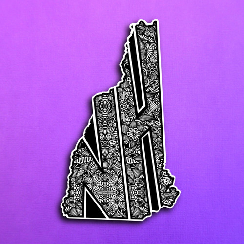 New Hampshire State Packaged Sticker