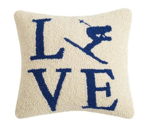 Love Ski Hook Pillow