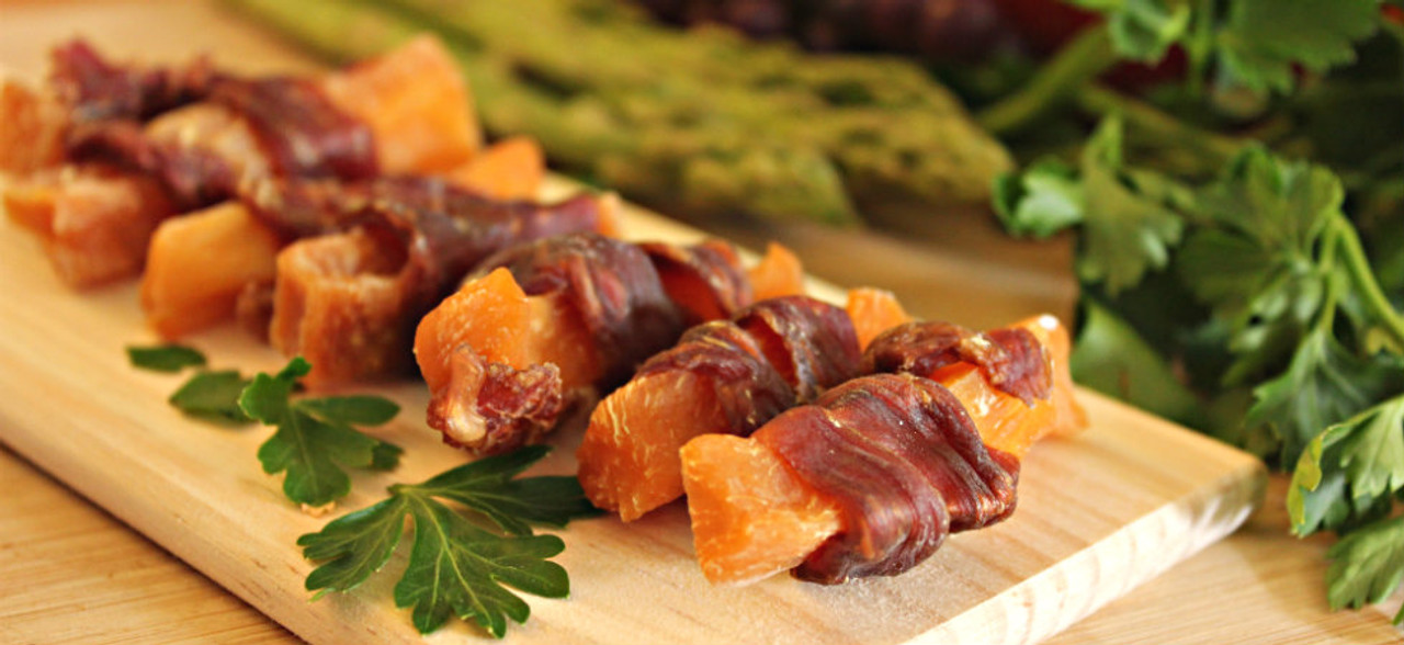 Dog-snack-duck-and-sweet-potato-roll