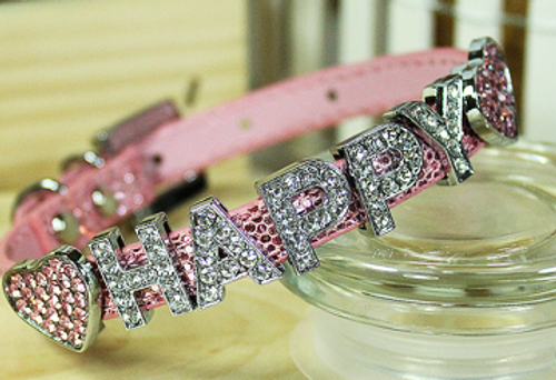 Personalizable Collar Collection- Foxy Glitz Pink