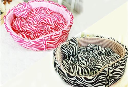 Plush Round Bed Zebra