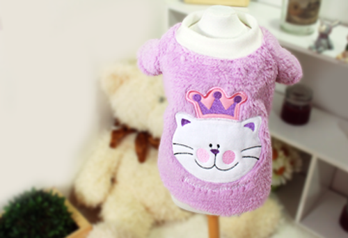Fluffy Meow Velvet Sweater Purple