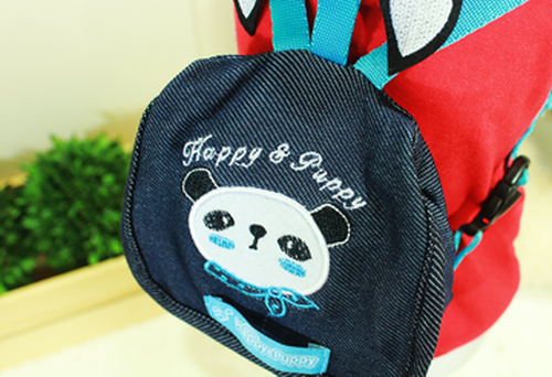 Panda Denim Picnic Backpack