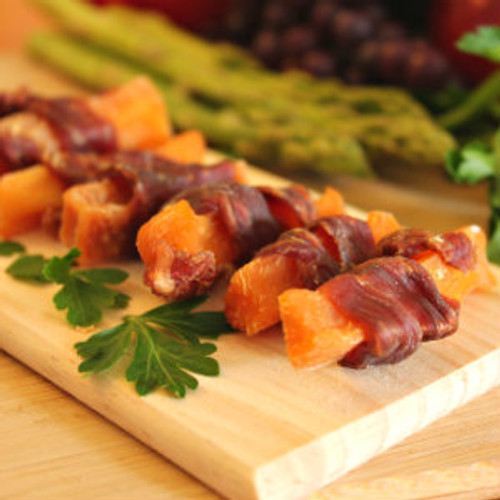 Premium Duck and Sweet Potato dog treat made in USA