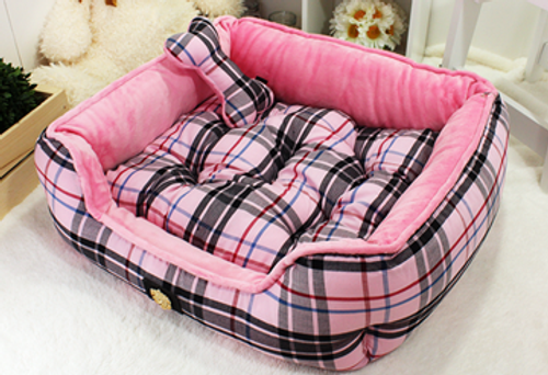 Junior Checker Bed Lovely Pink