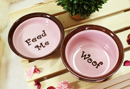 Sassy Pink & Brown Bowl