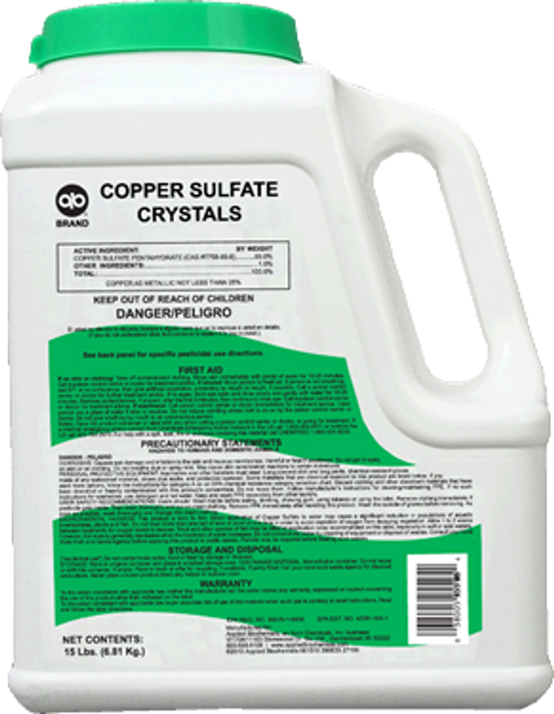 Copper Sulfate (15 lbs)