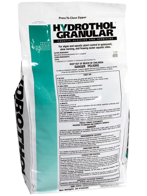 Hydrothol Granular provides control of both bottom-growing weeds and algae. This product is one of the best in the market!