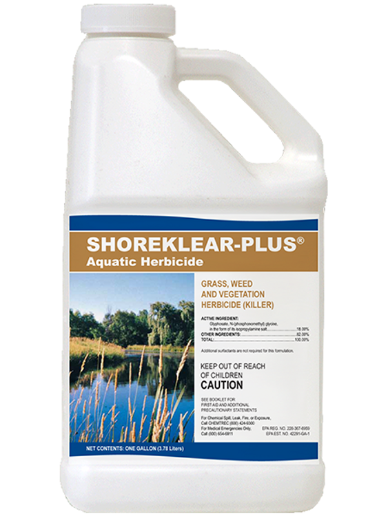 ShoreKlear-Plus effectively controls shorelines & woody plants that are not completely submerged or have a majority of foliage under water.
