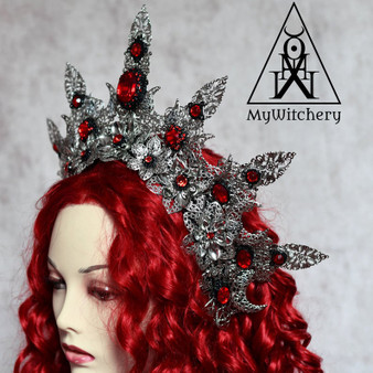 Evil queen red crystal crown