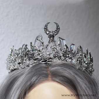 Diana goddess moon crystal crown headpiece