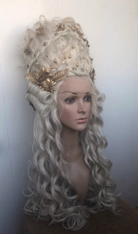 Marie-Antoinette wig - Historical wig -  Rococo wig - 18th century decorated wig