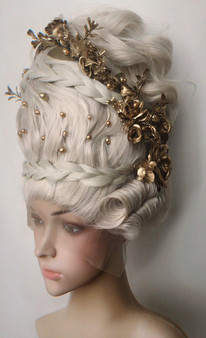 18th century inspired wig- Rococo wig