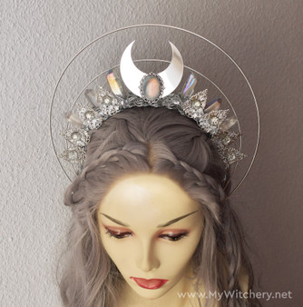 Moon goddess witchy ceremonial crown