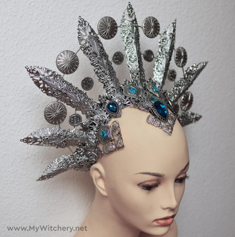 Queen of Damned headpiece - Vampire Queen crown - Akasha cosplay headdress