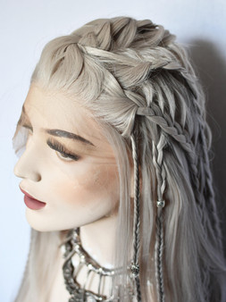 Vikings-Style wig with braided top Viking wig Lagertha costume cosplay wig