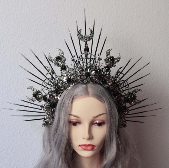 Witches crown - Gothic headpiece - Aradia halo