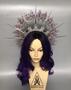 Fanasy elven crown headpiece with lilac crystals