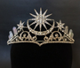 Crystal crown for tribal dances, fairy tail wedding, fantasy costume.
