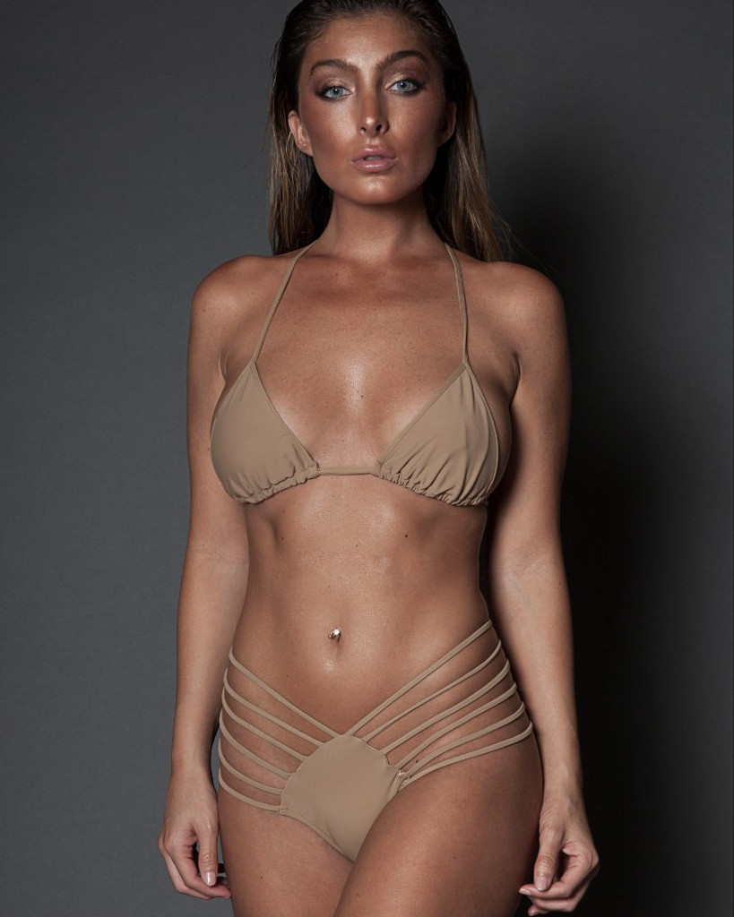 TAN TWO PIECE STRAPPY