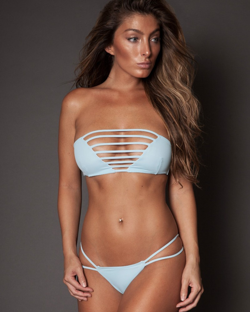 BABY BLUE STRAPPY TWO PIECE BANDEAU