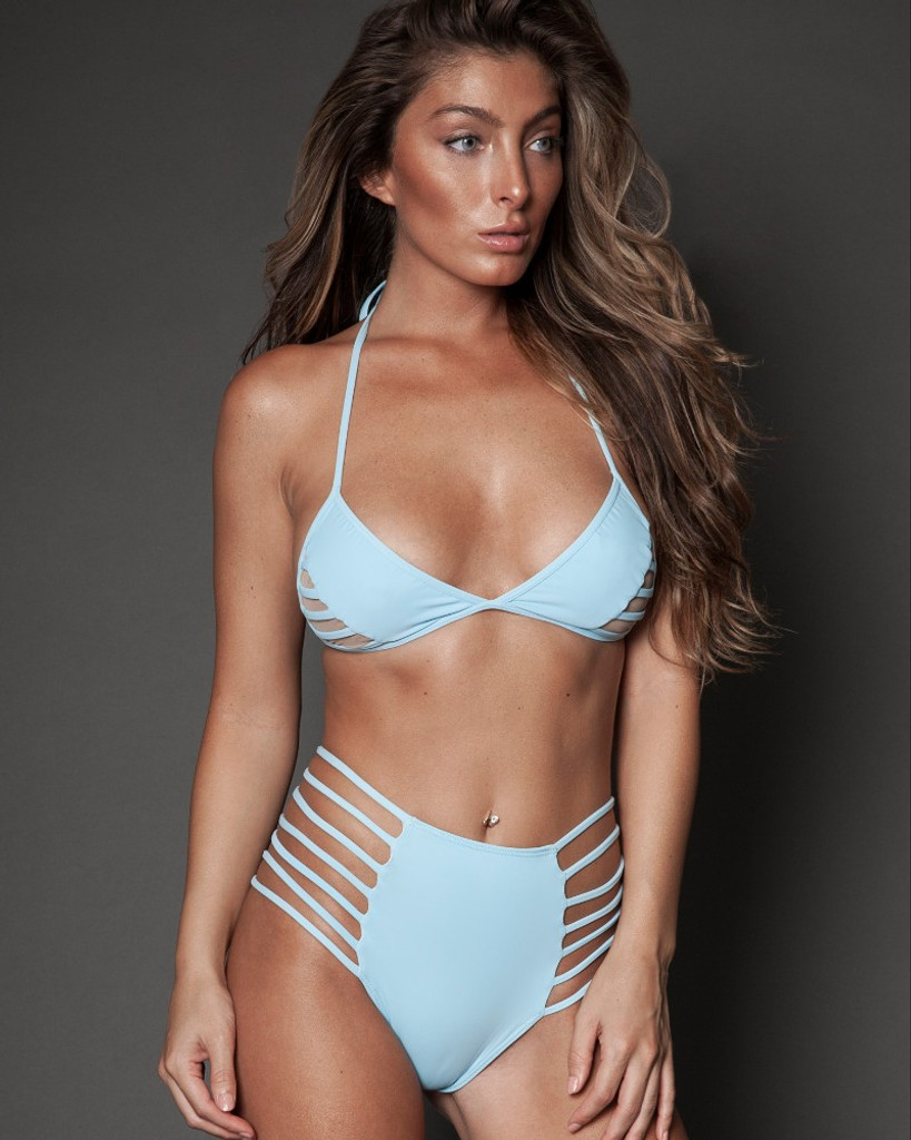 BABY BLUE STRAPPY TWO PIECE