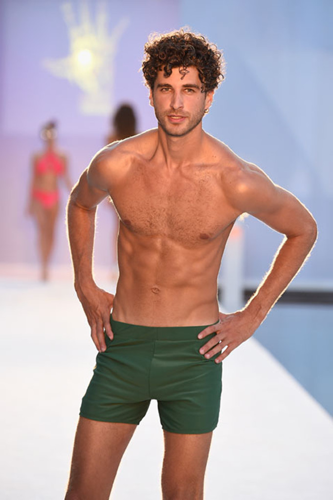 Olive Green Swim Shorts