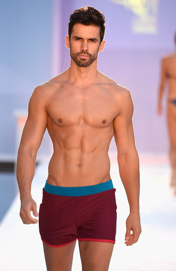 Red With Blue Trim Shorts