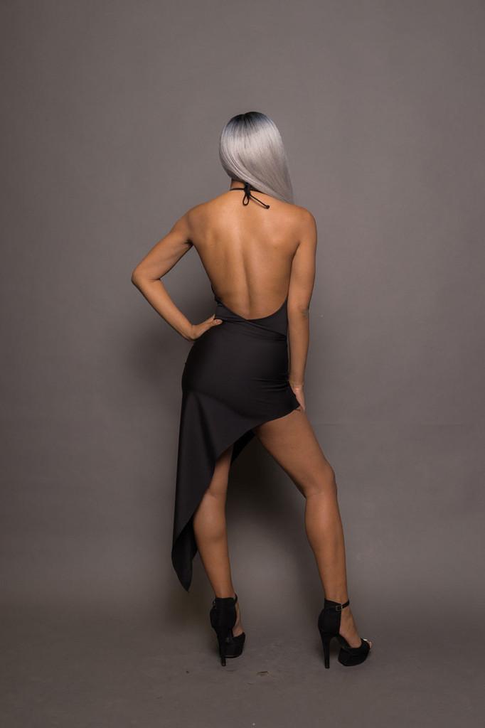 Corset Dress W Thigh Slit