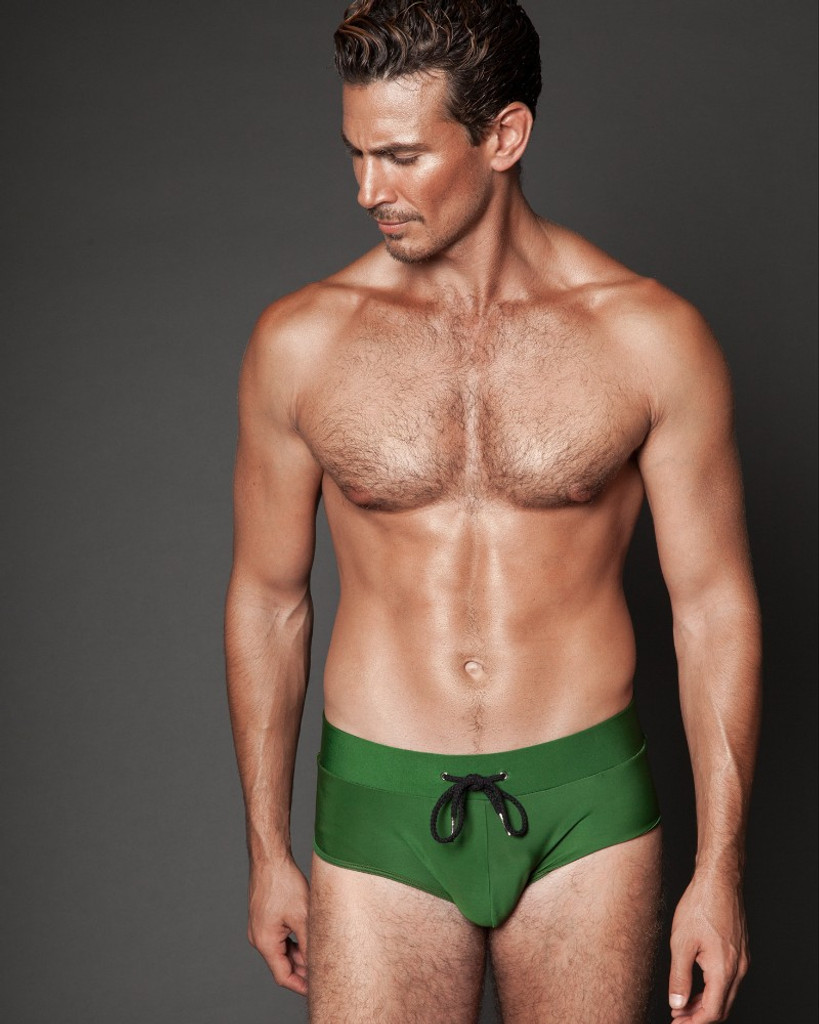 GREEN SWIM BRIEFS