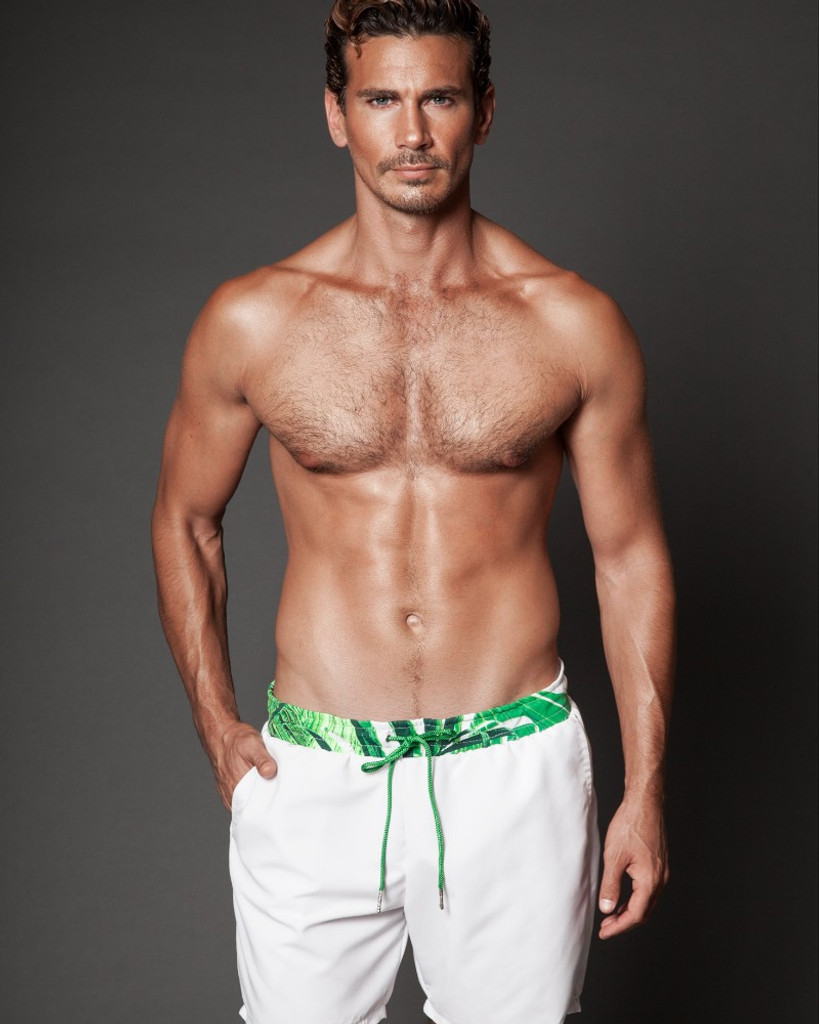 White Tropical Short