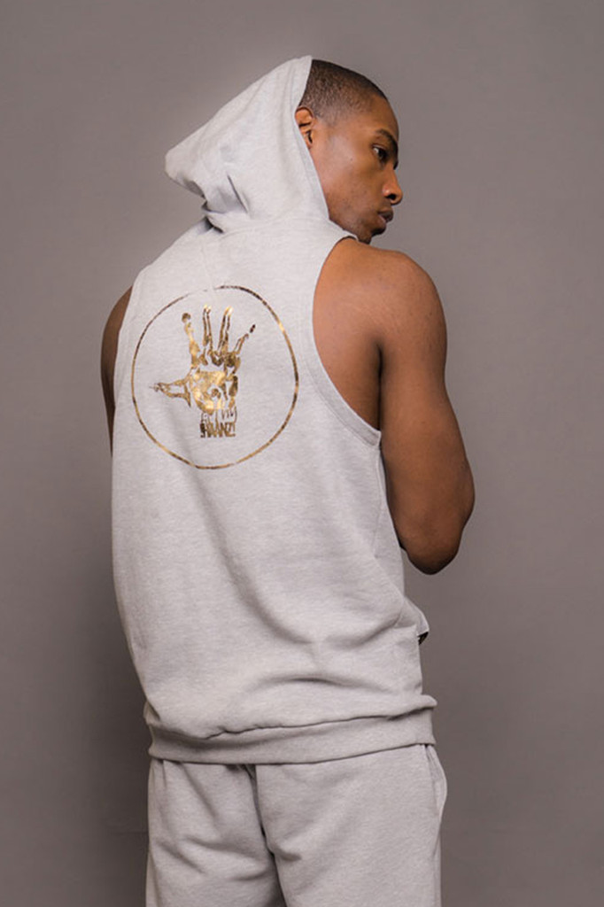 Mens Sleeveless Hooded Logo Sweatshirt