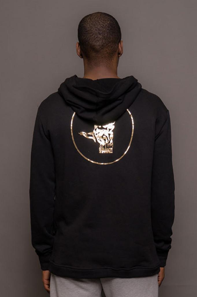 Mens Gold Logo Hoodie
