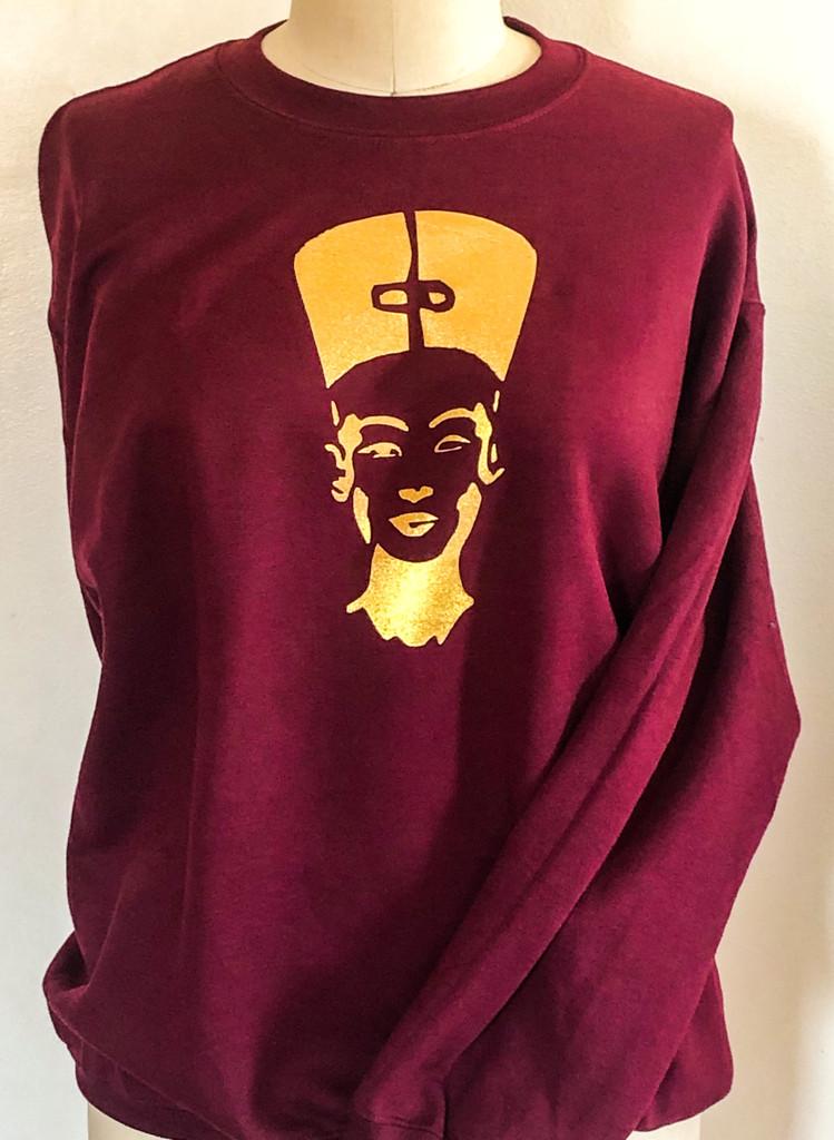 FH wear Nefertiti burgundy crewneck sweater
