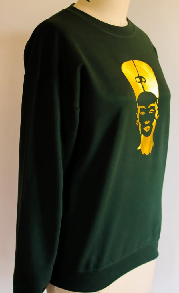 FH wear Nefertiti forest green crewneck sweater