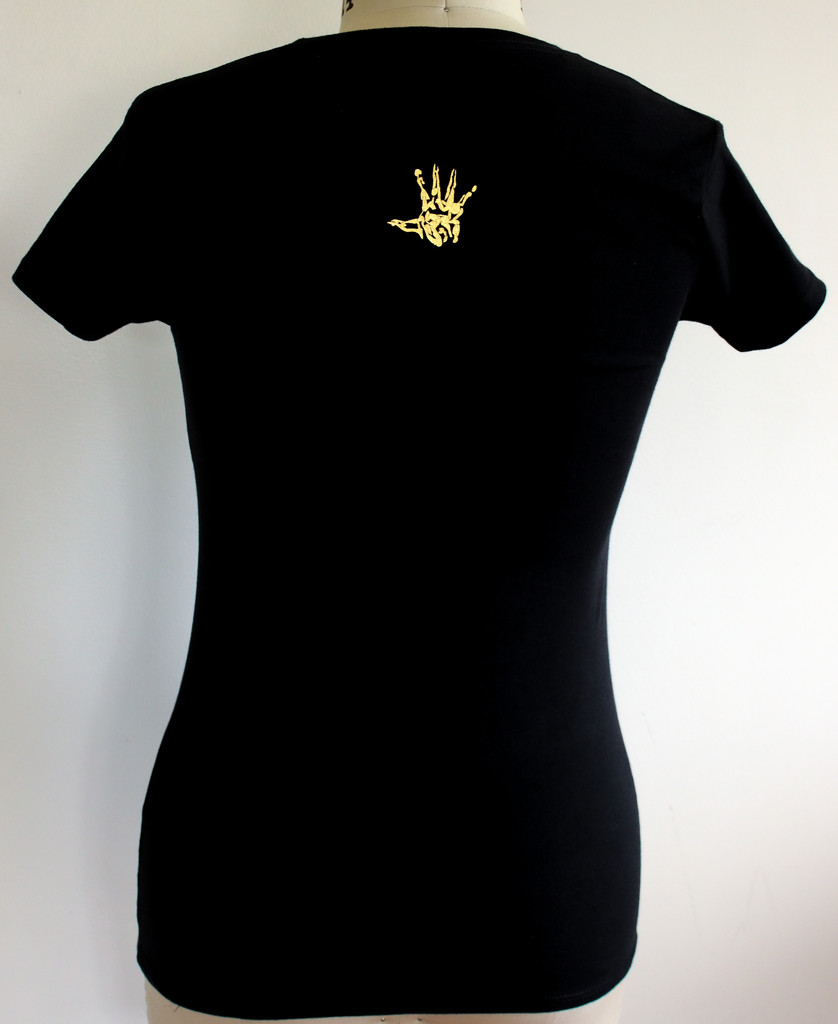 FH Crown roots female fitted t shirt black