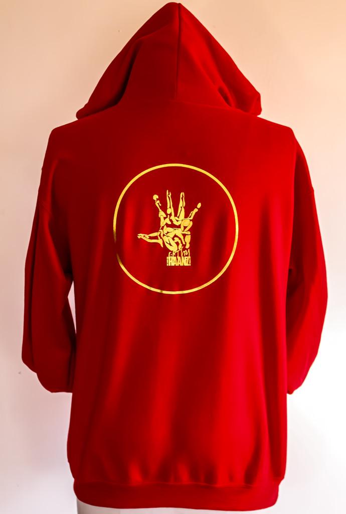FH wear zip up red hoodie